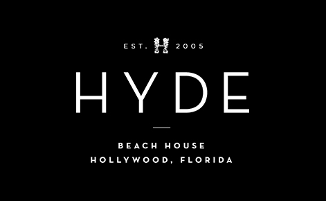 eGift Card image of the Hyde Beach House logo on a black background