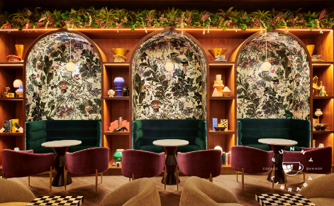 Gift card image of seating area in the interior of the hotel