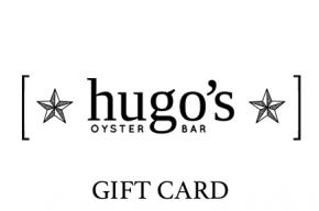 Gift card image with Hugo's Oyster Bar logo and the text