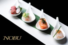 Image of cocktails with the Nobu logo