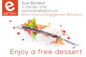 Image of Susi Barakat's business card with the text