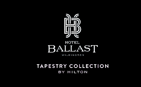 eGift Card image of Hotel Ballast logo on a black background