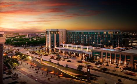 Image of Texas A&M Hotel & Conference Center at sunset