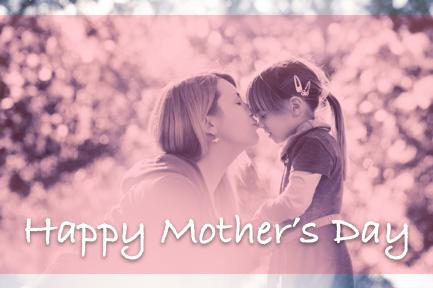 Image of a Mother and daughter with the text