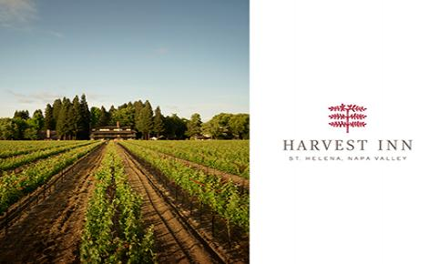 Harvest Inn Gift Card image, image if vine yard and Harvest Inn logo