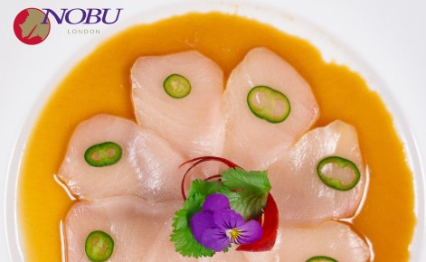 Gift card image of a Sushi platter with the Nobu London logo
