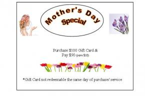 Mother's Day Promo flyer image with detail