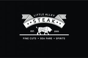 Little Alley Steak logo on black background