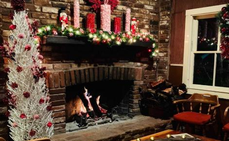 Photo of the fire place at restaurant