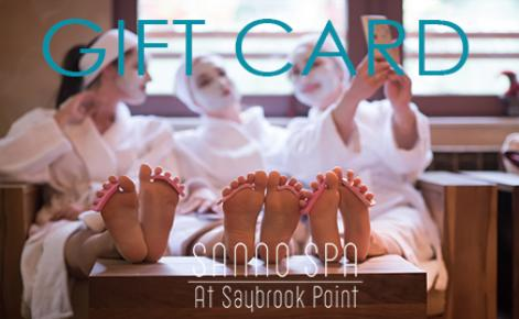 Image of a group of ladies being pampered at the spa with the text