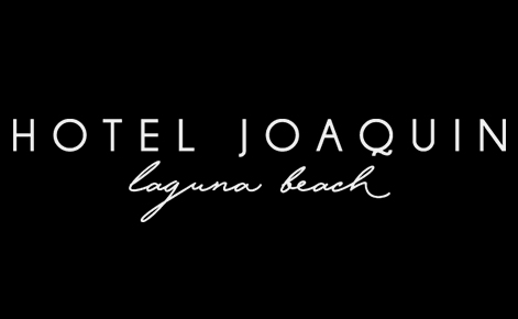 Image of the Hotel Joaquin in white on black background