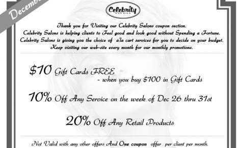 Celebrity Salons Offer