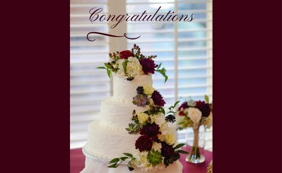 Wedding cake image with the text