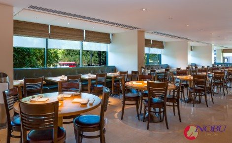 Gift card image of the interior of the restaurant with the Nobu London logo