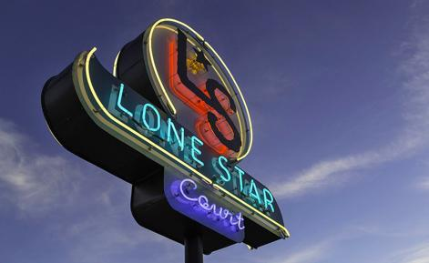 Image of Lone Star Court neon sign