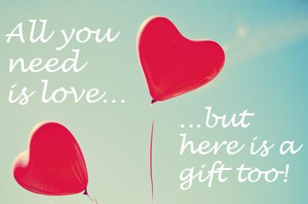 Ballon hearts with the text