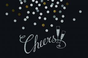 Image of champagne glasses with the text