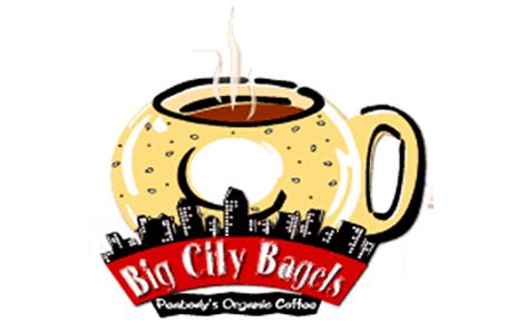 Big City Bagels and Peabody's Organic Coffee Logo