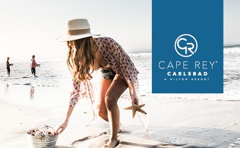 Cape Rey Gift Physical Card Image with gift on the beach
