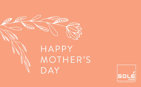 Gift card image of illustration of a flower with the text