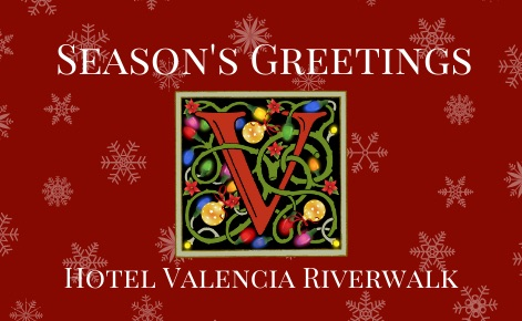 Hotel Valencia Riverwalk eGift with snowflakes