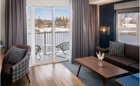 Gift card image of hotel room