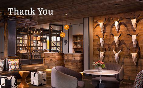 "Gift card image of the bar with the text ""Thank You"""