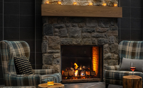 Gift card image of fireplace