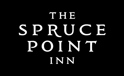 Gift card image of The Spruce Point Inn logo on a black background