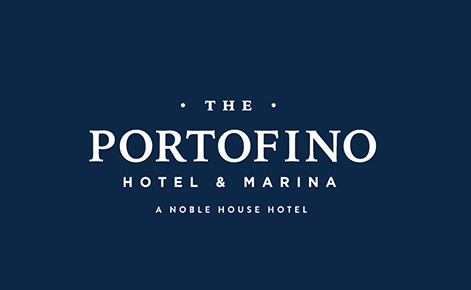 Gift card image of The Portofino logo on a navy background