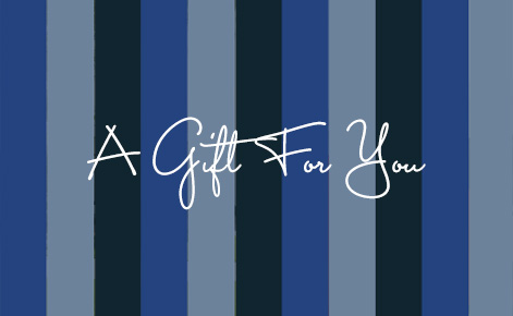 """Gift card image with the text """"A Gift For You"""""""